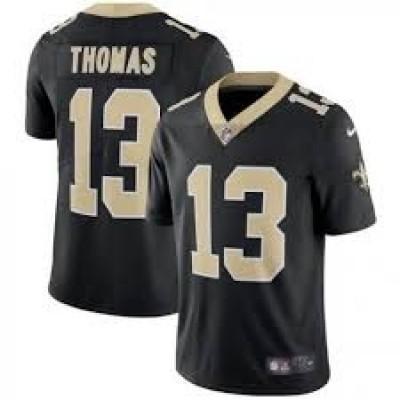 Nike New Orleans Saints 13 Michael Thomas Vapor Untouchable Limited Black Youth Jersey