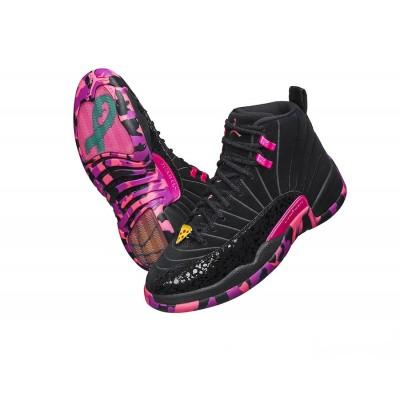 Air Jordan 12 Doernbecher Carissa Navarro Black Pink Shoes