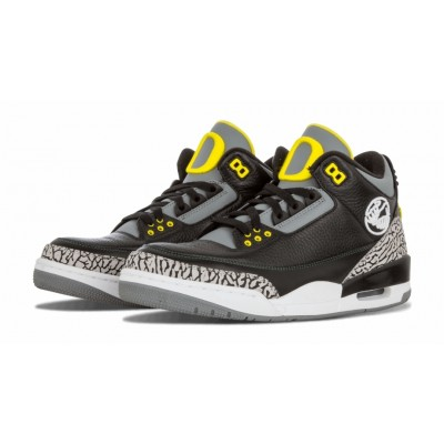 Air Jordan 3 Retro Oregon Pit Crew Black Shoes