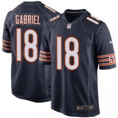 Nike Chicago Bears 18 Taylor Gabriel Navy Elite Men Jersey