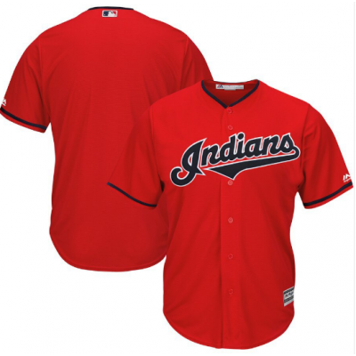 MLB Indians Red Alternate 2019 Customized Men Jersey