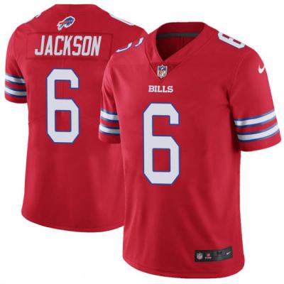 Nike Buffalo Bills 6 Tyree Jackson Red Color Rush Limited Men Jerseys