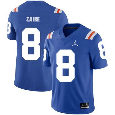 NCAA Florida Gators 8 Malik Zaire Blue Throwback College Football Men Jersey