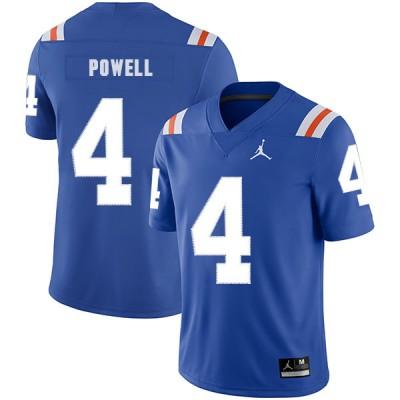 NCAA Florida Gators 4 Brandon Powell Blue Throwback College Football Men Jersey