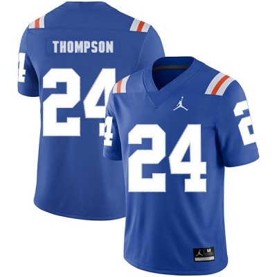 NCAA Florida Gators 24 Mark Thompson Blue Throwback College Football Men Jersey