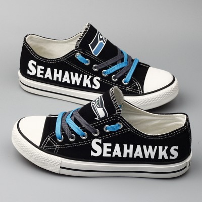 NFL Seattle Seahawks Repeat Print Low Top Sneakers