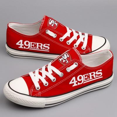 NFL San Francisco 49ers Repeat Print Low Top Sneakers 006