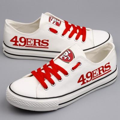 NFL San Francisco 49ers Repeat Print Low Top Sneakers 005