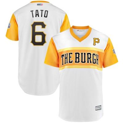 MLB Pirates 6 Starling Marte Tato White 2019 Little League Classic Men Jersey