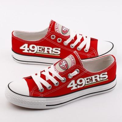NFL San Francisco 49ers Repeat Print Low Top Sneakers 002