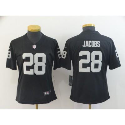 Nike Raiders 28 Josh Jacobs Black Vapor Untouchable Limited Women Jersey
