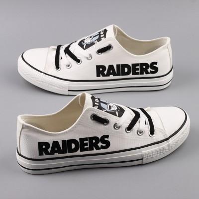 NFL Oakland Raiders Repeat Print Low Top Sneakers 004