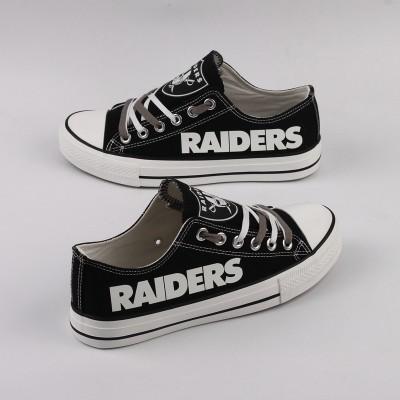 NFL Oakland Raiders Repeat Print Low Top Sneakers 003