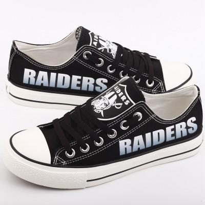 NFL Oakland Raiders Repeat Print Low Top Sneakers 002