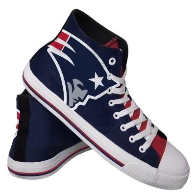 NFL New England Patriots Repeat Print High Top Sneakers 002