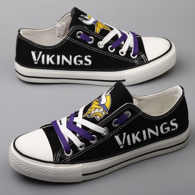 NFL Minnesota Vikings Repeat Print Low Top Sneakers 002