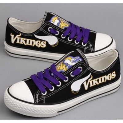 NFL Minnesota Vikings Repeat Print Low Top Sneakers