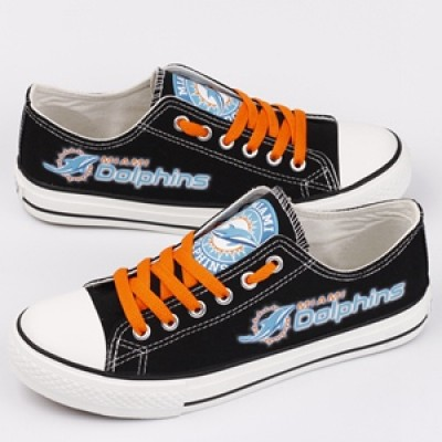 NFL Miami Dolphins Repeat Print Low Top Sneakers 002