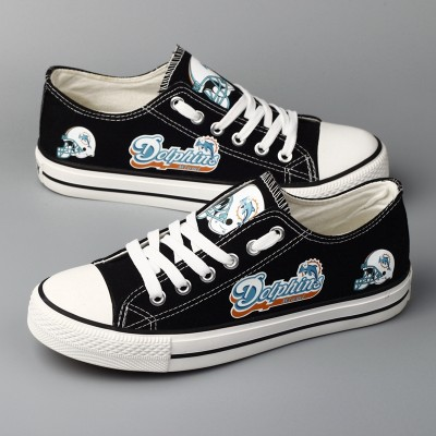 NFL Miami Dolphins Repeat Print Low Top Sneakers