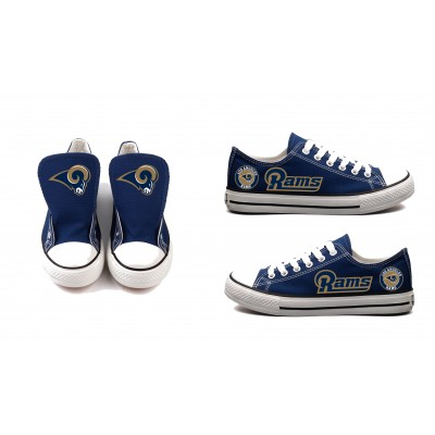 NFL Los Angeles Rams Repeat Print Low Top Sneakers 002