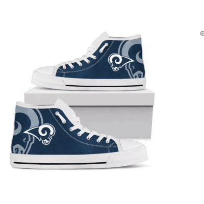 NFL Los Angeles Rams Repeat Print High Top Sneakers 003