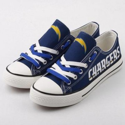 NFL Los Angeles Chargers Repeat Print Low Top Sneakers 002