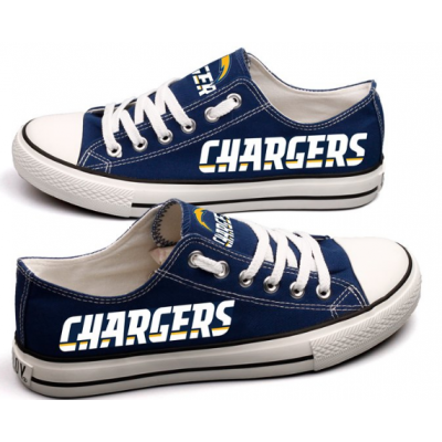 NFL Los Angeles Chargers Repeat Print Low Top Sneakers