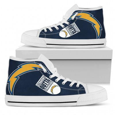 NFL Los Angeles Chargers Repeat Print High Top Sneakers 003