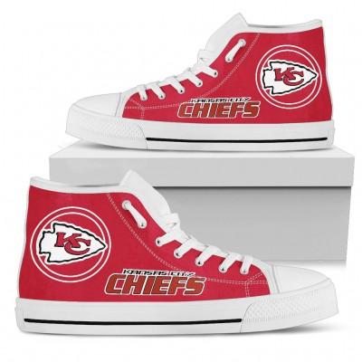 NFL Kansas City Chiefs Repeat Print High Top Sneakers 003
