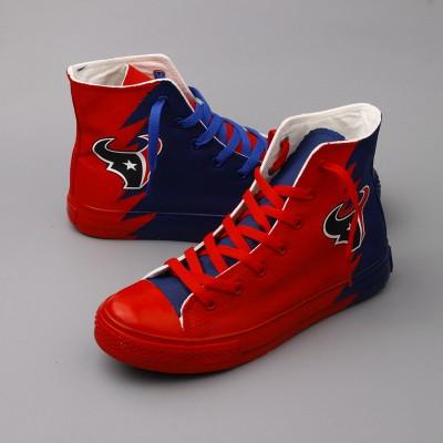 NFL Houston Texans Repeat Print High Top Sneakers