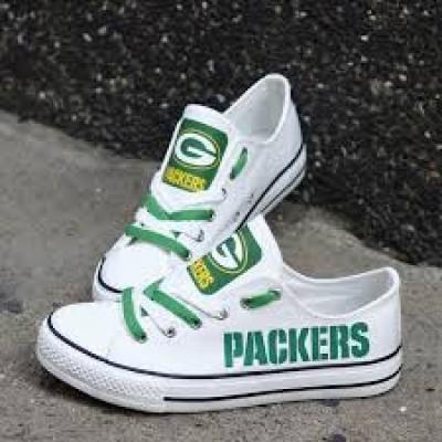NFL Green Bay Packers Repeat Print Low Top Sneakers 007
