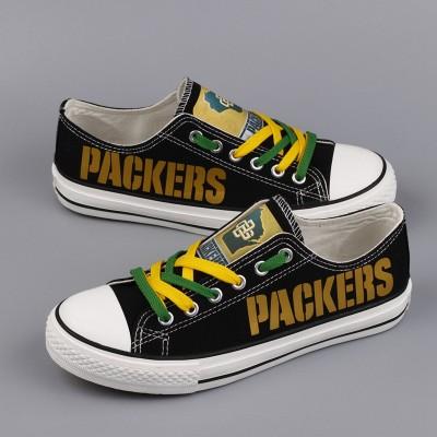 NFL Green Bay Packers Repeat Print Low Top Sneakers 003