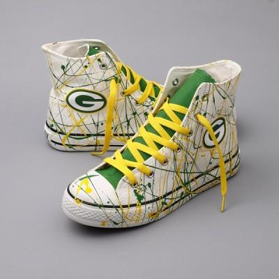 NFL Green Bay Packers Repeat Print High Top Sneakers 006
