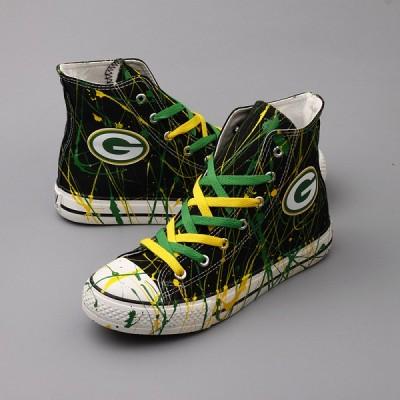 NFL Green Bay Packers Repeat Print High Top Sneakers 005