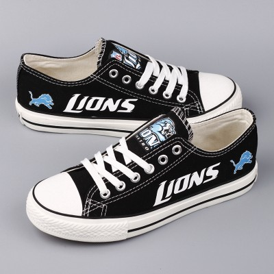 NFL Detroit Lions Repeat Print Low Top Sneakers 002