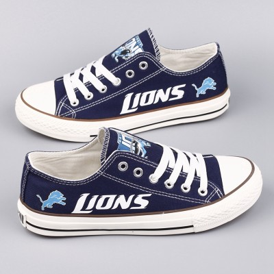 NFL Detroit Lions Repeat Print Low Top Sneakers