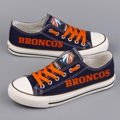 NFL Denver Broncos Repeat Print Low Top Sneakers 003