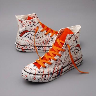 NFL Denver Broncos Repeat Print High Top Sneakers 004