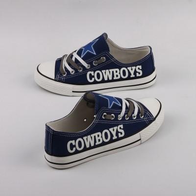 NFL Dallas Cowboys Repeat Print Low Top Sneakers 006