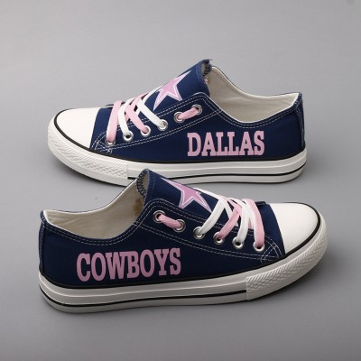 NFL Dallas Cowboys Repeat Print Low Top Pink Sneakers