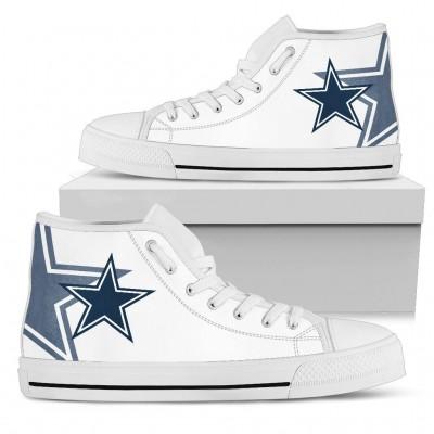 NFL Dallas Cowboys Repeat Print High Top Sneakers 004