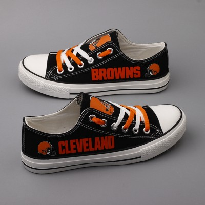 NFL Cleveland Browns Repeat Print Low Top Sneakers
