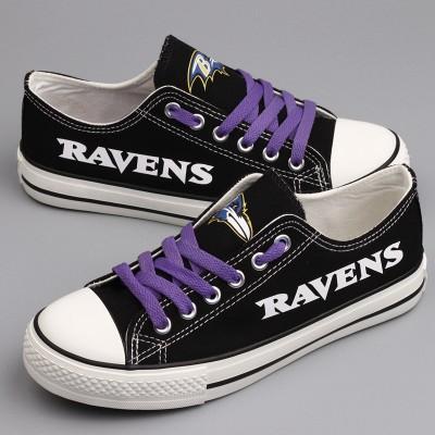 NFL Baltimore Ravens Repeat Print Low Top Sneakers 002