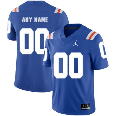 NCAA Florida Gators Customized Blue Men's College Football Men Jersey