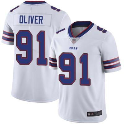 Nike Bills 91 Ed Oliver White Vapor Untouchable Limited Men Jersey