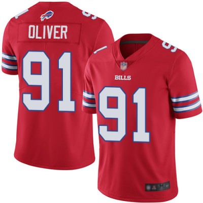 Nike Bills 91 Ed Oliver Red Color Rush Limited Men Jersey