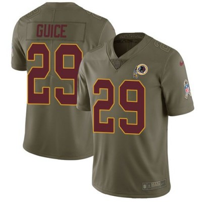 Nike Redskins 29 Derrius Guice Olive Salute To Service Limited Men Jersey