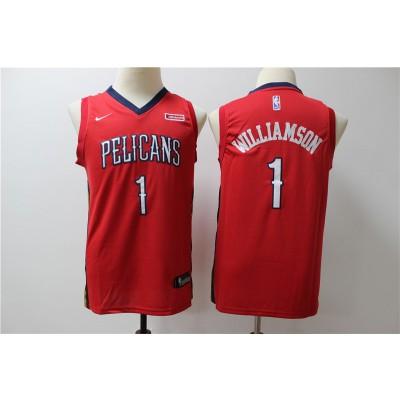 NBA Pelicans 1 Zion Williamson Red Nike Swingman Youth Jersey