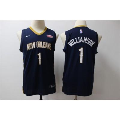 NBA Pelicans 1 Zion Williamson Navy Nike Swingman  Youth Jersey