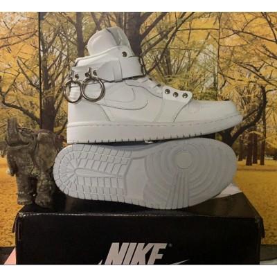 CDG x Air Jordan 1 White Shoes